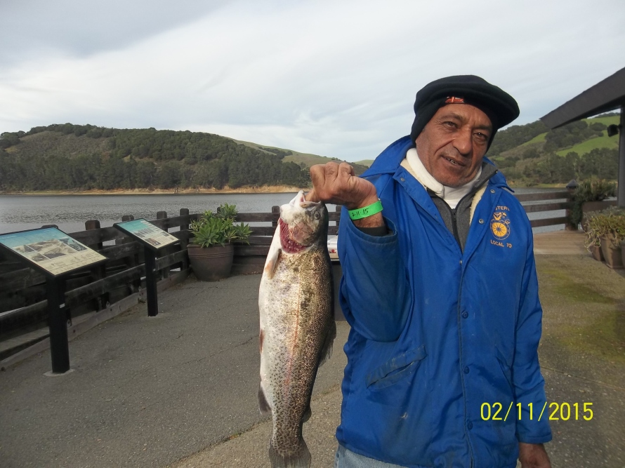Charlie Amin, from Fremont caught 1 Trout the largest weighing 6 lbs on 2-11-15